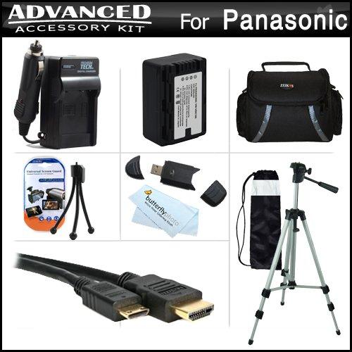 Advanced Accessories Kit For Panasonic HDC-TM90K 3D Compatib