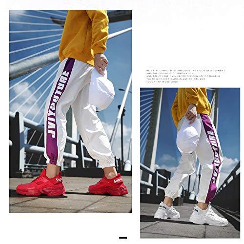 Zapatillas Blancos Hombres Deportivos 45 Otoño White Zapatos Gran Tamaño De Yxlong Deportivas 0n54aqZ
