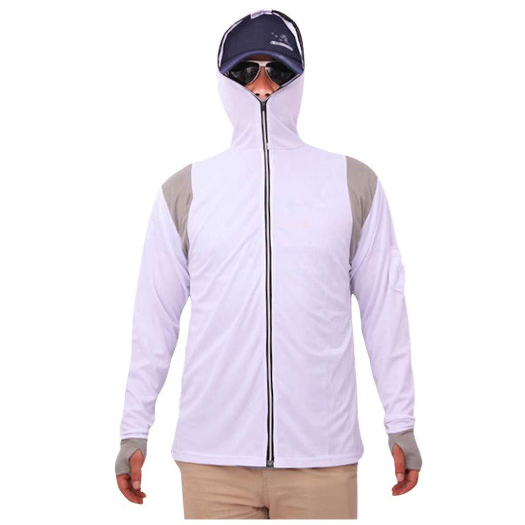 FGDJEE Mens Long Sleeves Tops Hoodie Sweatshirts Fishing Suit Zipper Blouse 2019 New by FGDJEE
