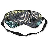 HSHISKH Men And Women Leo Zebra Animal Print Mask For Sleeping 3d, Hot Ice Cover Sleep Blackout Breathable Sleeping Goggles