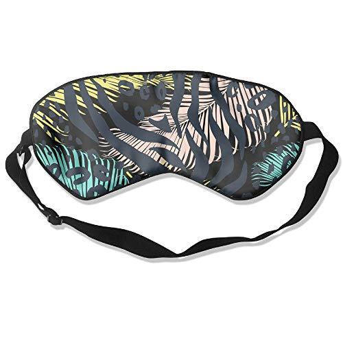 HSHISKH Men And Women Leo Zebra Animal Print Mask For Sleeping 3d, Hot Ice Cover Sleep Blackout Breathable Sleeping Goggles by HSHISKH