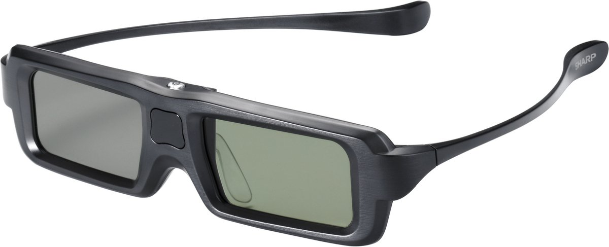 Sharp AN-3DG35 - Gafas 3D (120 h, CR2025, 30 g, Negro) AN3DG35