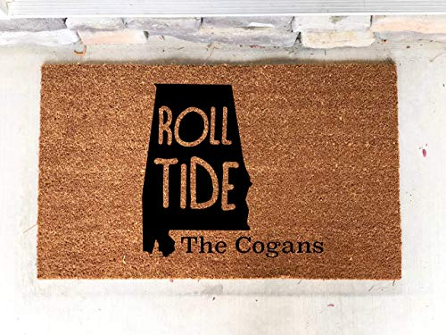 Personalized Alabama AL Roll Tide Football Custom Door Mat Home 18