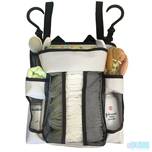 Nursery Diaper Organizer Caddy for Babies - Extra Strong Back Support Non Sagging Storage with Multiple Hanging Options
