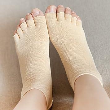 GuiXinWeiHeng 12 piezas calcetines de cinco dedos de yoga para mujeres punta abierta punta del pie