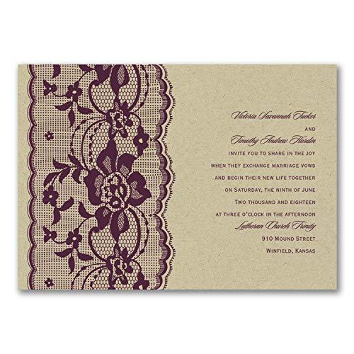 Wedding Invitations, Love Lace - Invitation ()