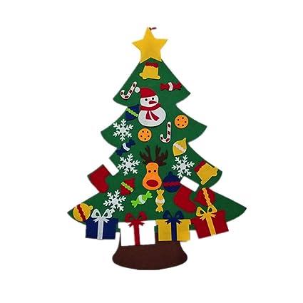 Amazon Com Bestoyard Felt Christmas Tree Diy Christmas Tree With