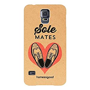 HomeSoGood Sole Mates Brown 3D Mobile Case For Samsung S5 (Back Cover)