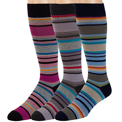 Compression Socks for Men and Women - 3 Pack - Graduated Support for Circulation and Recovery- For Travel, Fitness and Pregnancy - by ZEKE