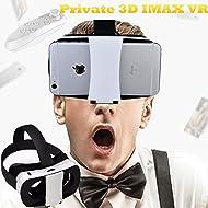 Casque de réalité virtuelle 3d, Bevifi VR Lunettes/casque 11,4- 14cm téléphone portable film 3d/jeu Viewer avec télécommande pour iOS/Android, pour iPhone 7/6S/6S Plus Samsung Galaxy S7/6Edge/5Sony LG Huawei etc