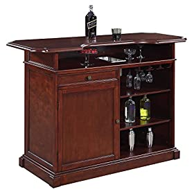 Hathaway Ridgeline 5′ Home bar Set with Storage Walnut