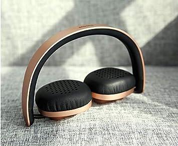 Baseus Encok - Auriculares inalámbricos Bluetooth V4.2 estéreo para teléfono y Tableta Dorado: Amazon.es: Electrónica