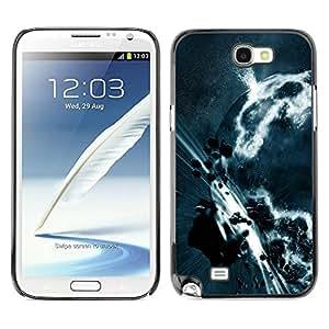 PC/Aluminum Funda Carcasa protectora para Samsung Note 2 N7100 Space Planet Galaxy Stars 3 / JUSTGO PHONE PROTECTOR