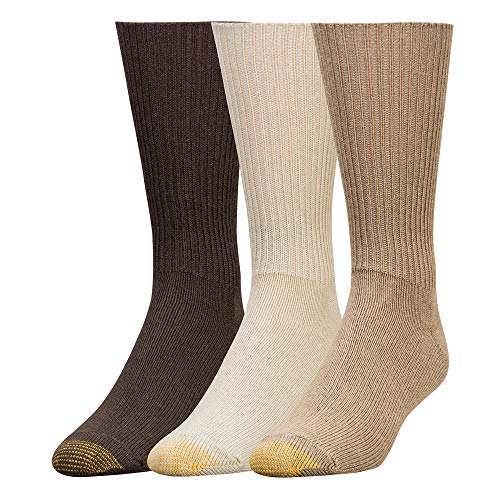 (Gold Toe Men's Fluffies 3 Pack Casual, Tan/Taupe/Brown, Sock Size: 10-13/Shoe Size:9-11)