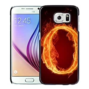 New Personalized Custom Designed For Samsung Galaxy S6 Phone Case For Burning Letter O Phone Case Cover