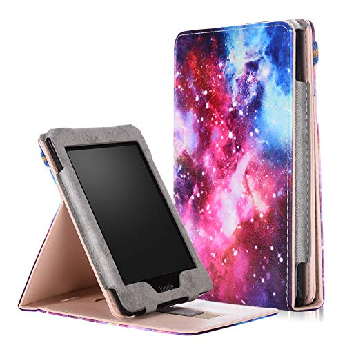 JR&JA Stand Cover for Kindle Paperwhite, Premium Vertical Flip Cover with Auto Wake/Sleep and Hand Strap for Amazon All-New Kindle Paperwhite (Fits All 2012, 2013, 2015 and 2016 Versions) (Galaxy) by JR&JA