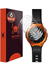 Casio Smart Outdoor Watch Screen Protector (WSD-F10), Skinomi® TechSkin (6-Pack) Full Coverage Screen Protector for Casio Smart Outdoor Watch Clear HD Anti-Bubble Film - with Lifetime Warranty