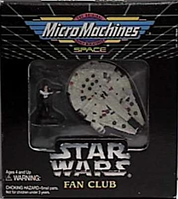 Star Wars Micro Machines Fan Club Exclusive Millennium Falcon with Han Solo Figure