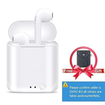 Auriculares Bluetooth Auriculares Inalámbricos Auriculares Deportivos Manos Libres Auricular inalambricos con Cargador Portátil para iPhone X