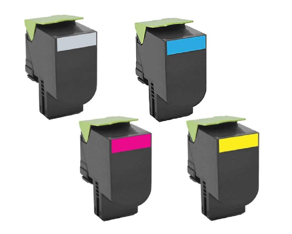 4 Toner Alternativos para Lexmark CS317 CX417 CS517 CX317