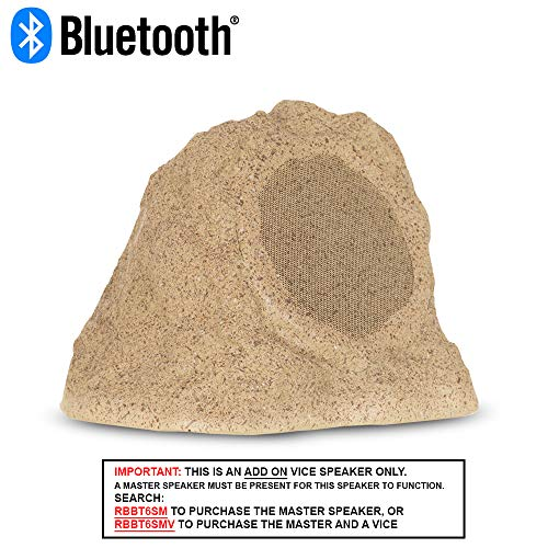 Theater Solutions RBBT6SV Add-On Fully Wireless Powered 100 Watt Bluetooth Sandstone 6.5