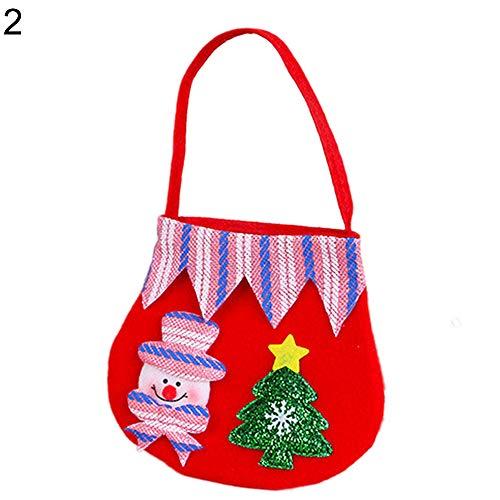 Brave669 Lovely Reindeer Bear Christmas Flannel Cloth Mini Handbag Candy Bag Kids Gift