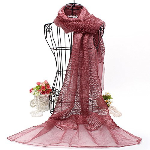 10502a3f5b4e9 Red bean paste SED ScarfDouble Fold Silk Shawls Scarf AllMatch Female  Spring and Winter Long Imitation Cashmere Scarf Female Autumn and Winter  Korean ...