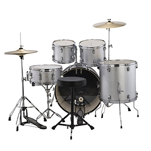 Ludwig Accent Drive Drum Set in Silver Foil finish (Snare Poplar)