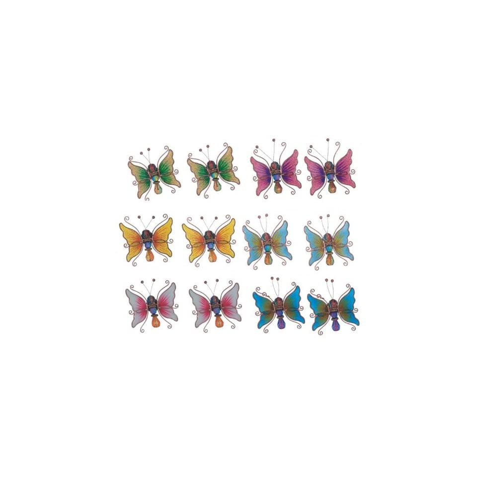 Refrigerator Fridge Magnet Collection Butterfly Set Of 12