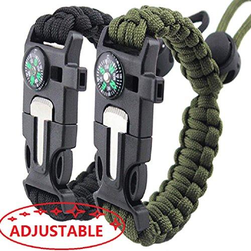 Survival Bracelet Paracord Adjustable Accessories product image