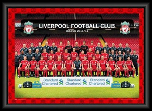 Posters: Football 3D-Posters (framed) - Liverpool FC, Team Photo 11/12, 3D Poster Framed (28 x 20 inches)