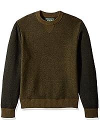 Men's Twill Colorblock Merino Sweater