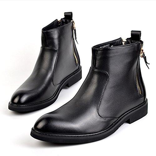 MEI&S Gli uomini di Martin Stivali Stivali Uomo Stivali Uomo Stivali Stivali moto sicurezza stivali da lavoro ,nero caldo,41