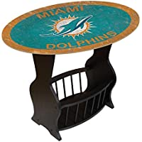 Fan Creations N0818-MIA Miami Dolphins Distressed End Table