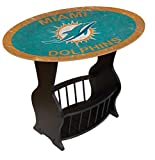 Fan Creations N0818-MIA Miami Dolphins Distressed End Table For Sale