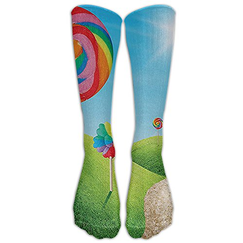 Fantasy Candy Land With Delicious Lollypops Knee High Graduated Compression Socks For Women And Men - Best Medical, Nursing, Travel & Flight Socks - Running & Fitness