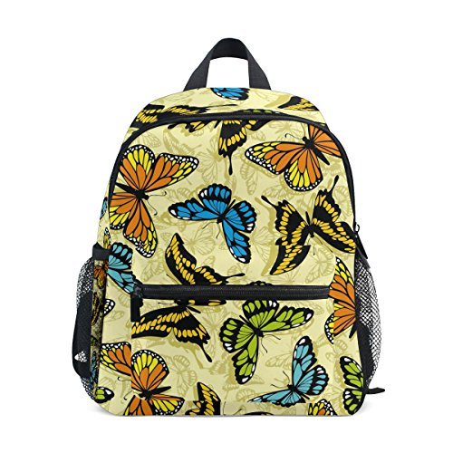 ZZKKO Colorful Kids nbsp;School nbsp;Bag Boys nbsp;Toddler nbsp;for nbsp;Girls Butterfly nbsp;Backpack nbsp;Book rrxwEfdTq