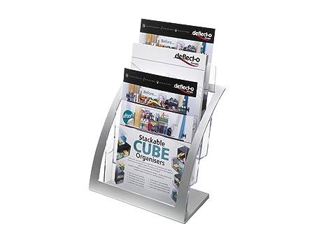 Amazon Deflecto 40Tier Contemporary Literature Holder Magazine New Contemporary Magazine Holder