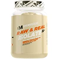 Bigmuscles Nutrition Raw & Real Whey Isolate[907g]  - Natural - 90% Protein, Additive Free, Unflavored, 26g Protein With Naturally Ocurring BCAA and Glutamine  per serving