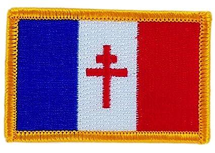 Verzamelingen Patch écusson brodé Drapeau FRANCE DE GAULLE Thermocollant Croix de lorraine