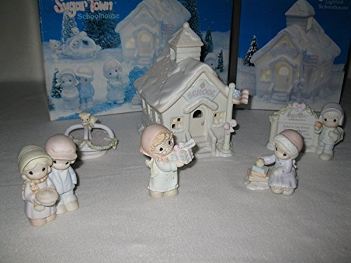 School House Set of 6 Sugar Town 272876 Retired