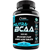 Nutra-BCAA™ Tablets 3000 mg Best BCAA Intra Workout – Post Workout Supplements, Amino Acids Supplements for Endurance, Recovery, Performance, Post Workout Recovery Drink