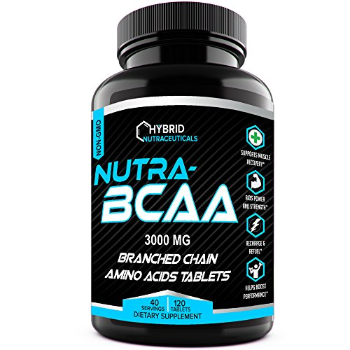 Nutra-BCAA™ Tablets 3000 mg Best BCAA Intra Workout - Post Workout Supplements, Amino Acids Supplements for Endurance, Recovery, Performance, Post Workout Recovery Drink