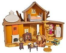 Playset Gran Casa del Oso de Masha y el Oso con 2 figuras y accesorios (Simba 9301032)
