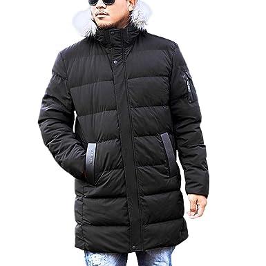 747117968df Men s Zipper Hooded Cotton Coat Big and Tall