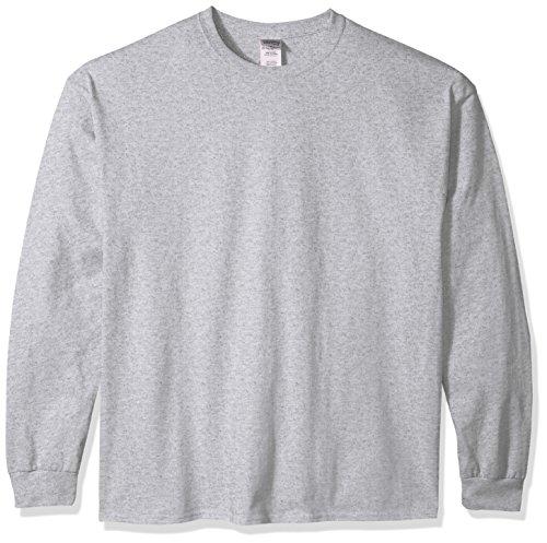 Gildan Men's Ultra Cotton Jersey Long Sleeve Tee Extended Sizes, Sport Grey, XXX-Large -