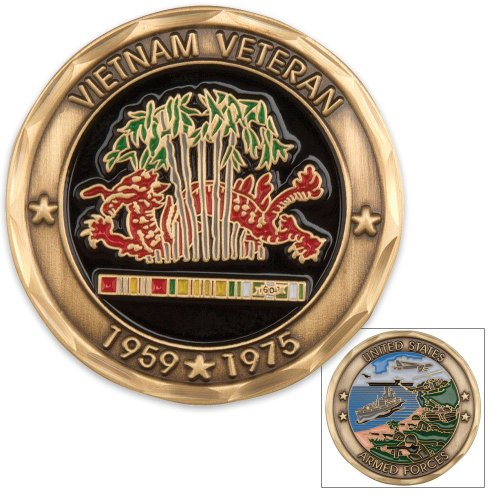 Collectible Veteran Service Vietnam Coin