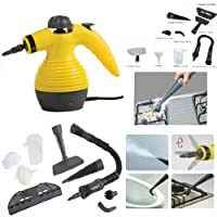Multi-Purpose Pressurized Steam Cleaning and Sanitizing System with Attachments - Great Handheld Steam Cleaner For Bed Bug Treatment - Degreasing, Clothing, Fabric, Garments, Indoors, Outdoor, Kitchen, Bathroom, Shower, Closet, Patio, Glass Cleaner, Garage and Car & Truck