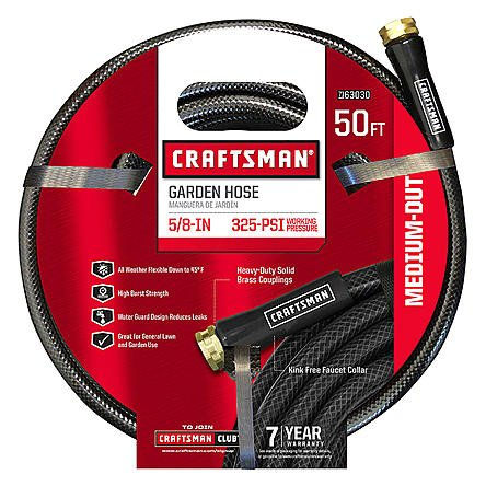 Craftsman 50 ft Medium Duty Garden Hose Leak free by Crafts Man
