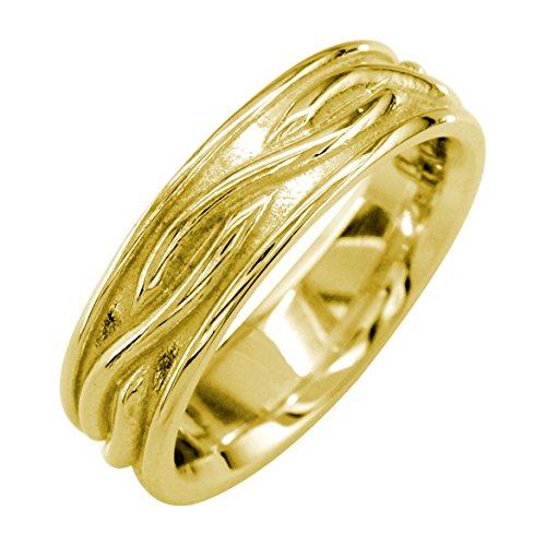 Band 14k Hoop Wedding Gold (Infinity Wedding Band in 14K Yellow Gold, 6mm size 13)